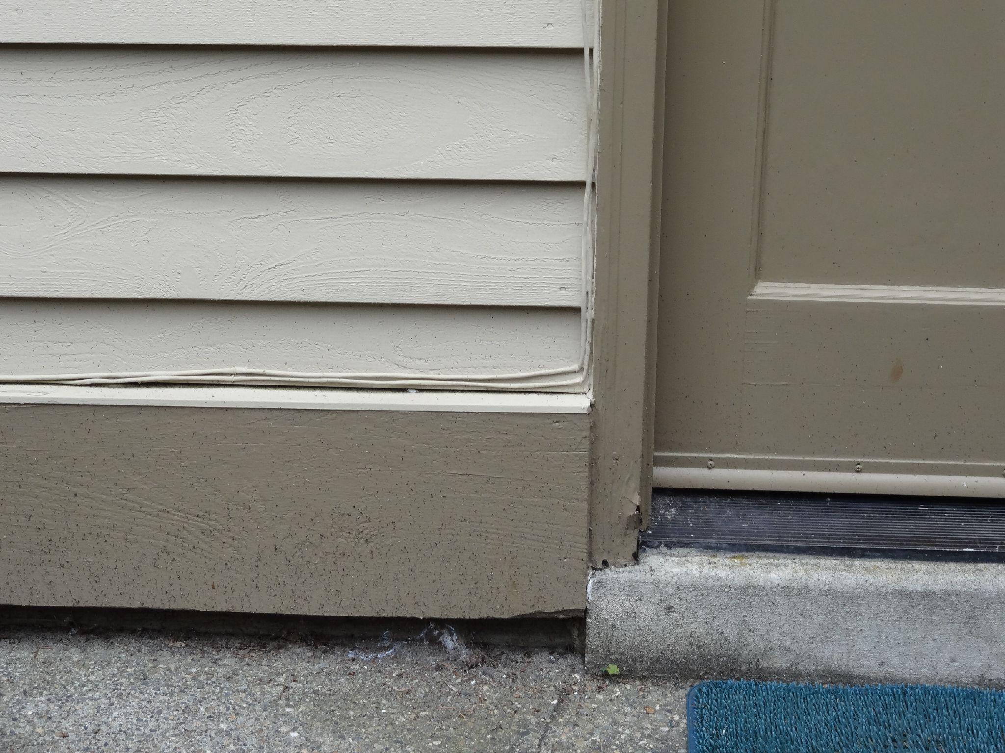 Brick mould dry rot repair in Rocklin